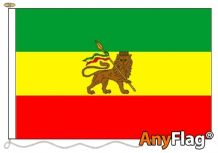 - ETHIOPIA WITH LION RASTA ANYFLAG RANGE - VARIOUS SIZES